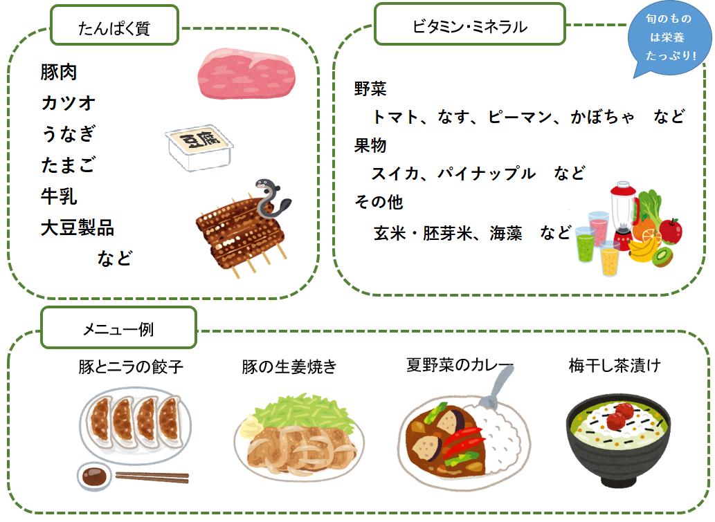 食べ物 夏バテ 防止